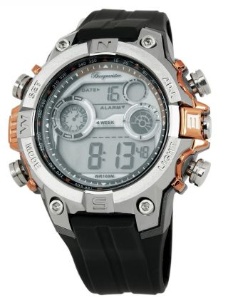 Burgmeister Herren Alarm - Chronograph Digitaluhr Digital Power,  Bm800 - 112b Bild