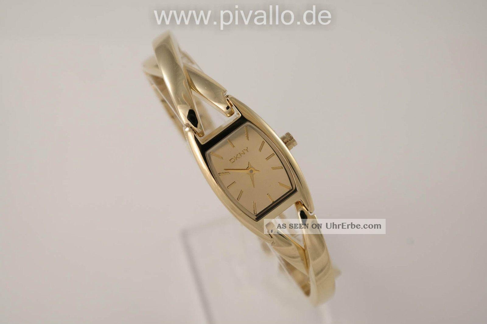 Dkny Donna Karan Ny Damenuhr / Damen Uhr Edelstahl Gold Ny8873 Armbanduhren Bild