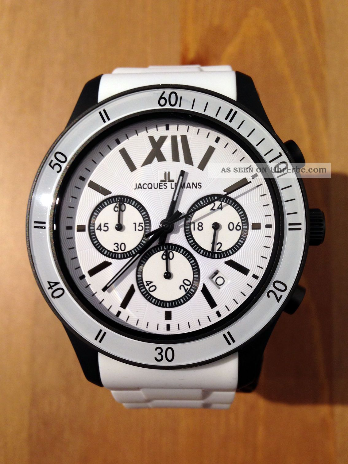 Orig.  Jacques Lemans Rome Sports - 44 Mm Chronograph - Unisex - Uvp 149,  - - Top Armbanduhren Bild