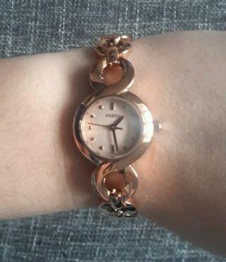 Rosegoldene Uhr Von Fossil - Bild