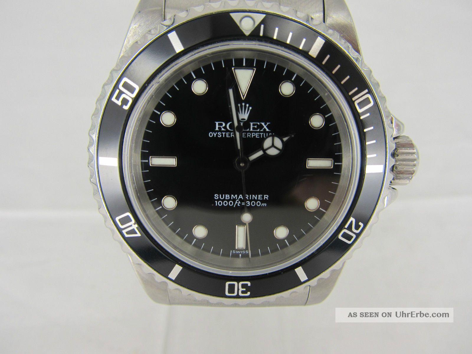 Rolex Submariner Ref: 14060 No - Date Automatik Von 1997/1998 Armbanduhren Bild