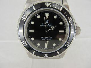 Rolex Submariner Ref: 14060 No - Date Automatik Von 1997/1998 Bild