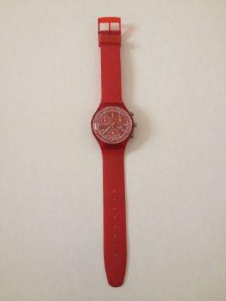 Swatch Uhr - - - Chronometer - - - Rot Bild