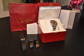 Cartier Roadster Xl Schwarz Wie - Mit 3 Armbändern Bild