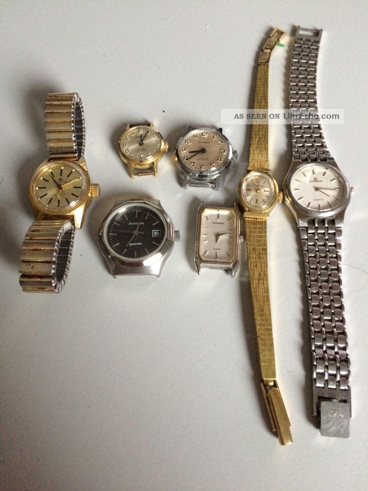 Dugena - Konvolut Von 7 Armbanduhren - Damenuhren - Quartz Und Mechanisch Armbanduhren Bild