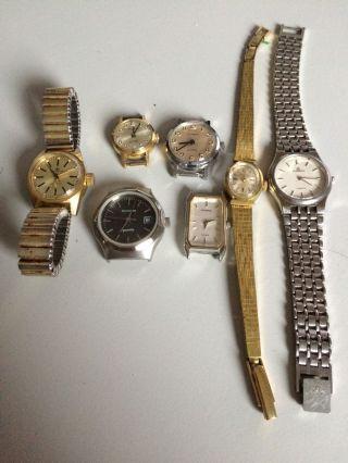 Dugena - Konvolut Von 7 Armbanduhren - Damenuhren - Quartz Und Mechanisch Bild