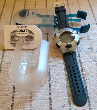 Swatch Aluminium.  Beat 100m Water Resistant Quarzgenau Stosssicher Bild
