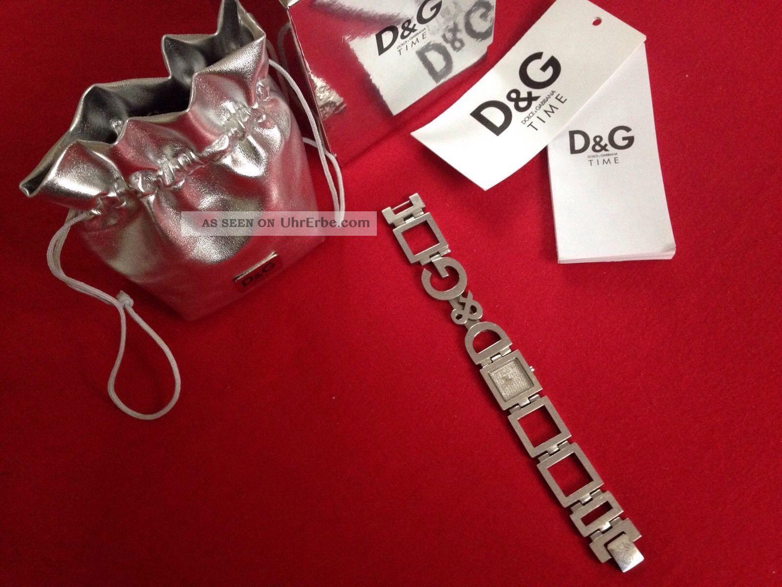 D&g Dolce Gabbana Damen Uhr Mit Kristallen Besetzt Np: 239€ Mit Ovp Armbanduhren Bild