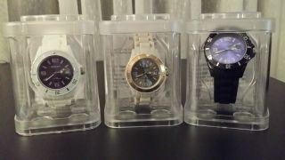 3x Ascot Ice Quartz Armbanduhr Silikon Uhr Unisex Unisize In Geschenkbox Ovp Bild