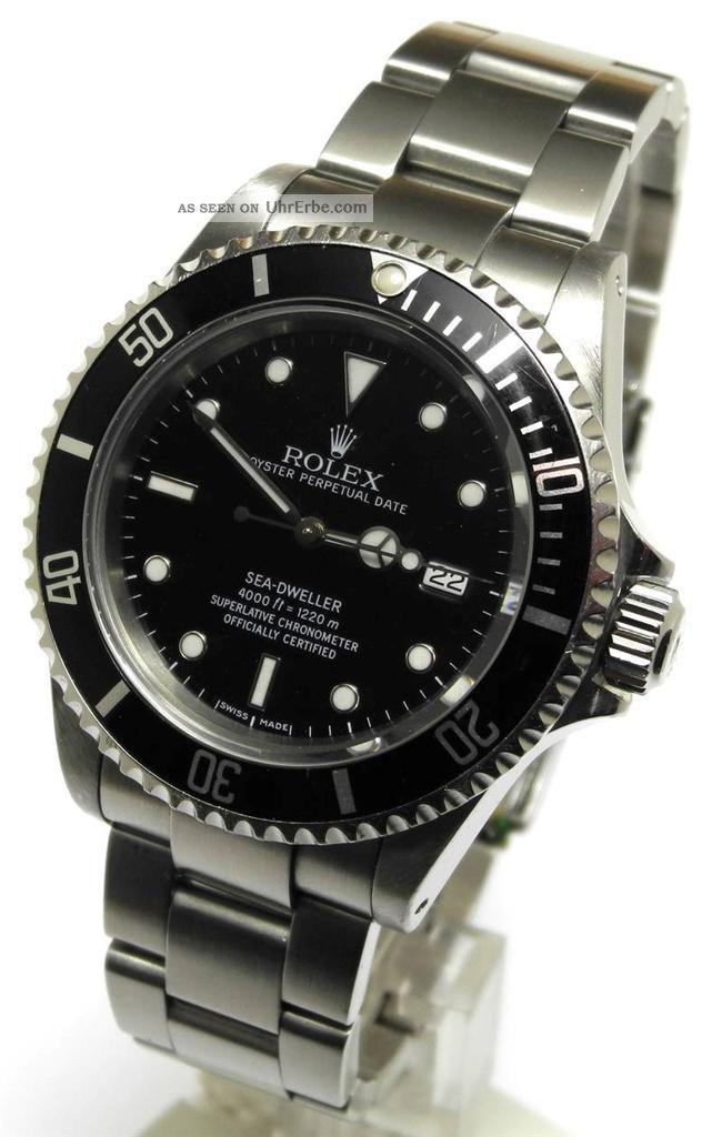 Rolex Oyster Perpetual Sea Dweller Ref 16600 P Serie Aus 2001 Armbanduhren Bild