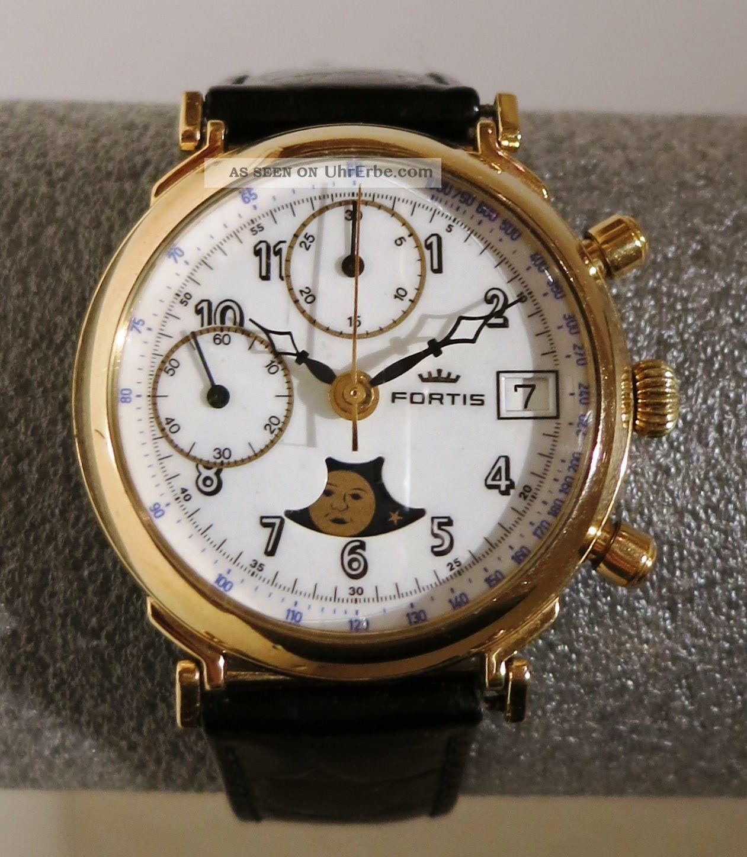 Fortis Chronograph,  Valjoux 7768,  Mondphase Armbanduhren Bild