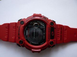 Herren - Armbanduhr Casio G - Shock,  Funk - Solar - Kollektion Digital Quarz,  Rot Bild
