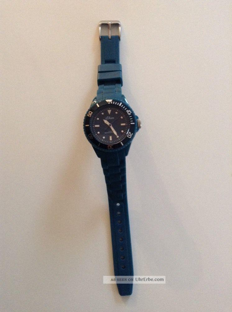 S.  Oliver Armbanduhr Silikonuhr Petrol Damen Wie Armbanduhren Bild