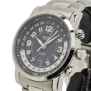 Alpina Startimer Gmt Uhr Watch Automatik Steel Vintage Top - Bild