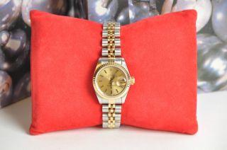 Rolex Oyster Perpetual Lady - Datejust Armbanduhr Ref.  69173 Bild