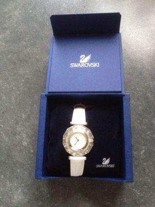 Swarovski Uhr Weiß - Christal (neues Lederarmband) & Certificate Ovp Bild