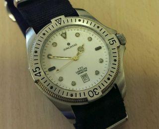 Herren Armbanduhr Junghans Ttc Longlife 100m 10atm Mit Nato Armband Bild