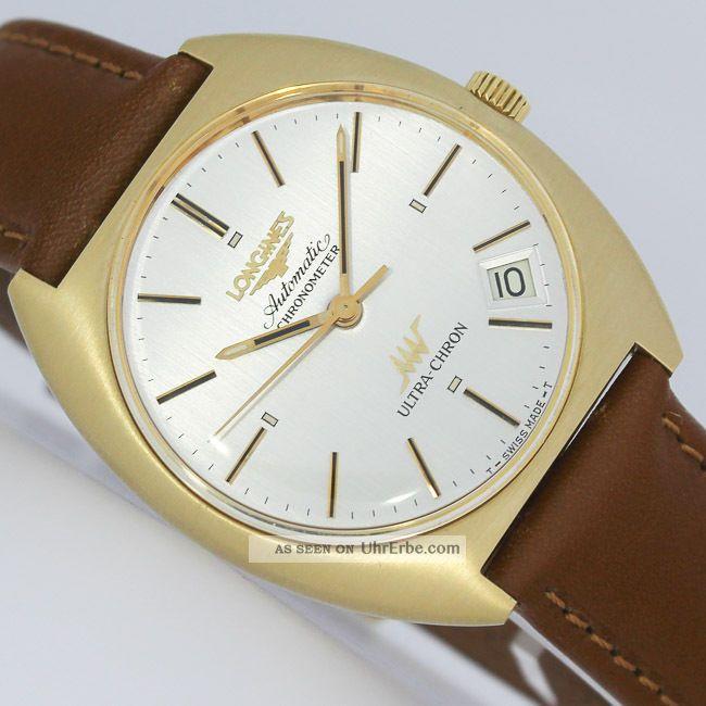 Longines Ultra - Chron 70iger Jahre Automatic Chronometer Gold Uhr Ref.  3202 1 Armbanduhren Bild