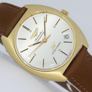 Longines Ultra - Chron 70iger Jahre Automatic Chronometer Gold Uhr Ref.  3202 1 Bild