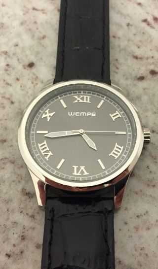 Wempe Uhr Watch Armbanduhr Mit Lederband 40 Mm Quartz Edelstahl Bild