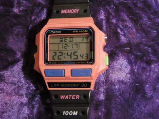 Alte Digital Armband Uhr Casio Wr 100m Lap Memory 30 Japan 100 Ok Berlin Berli Bild