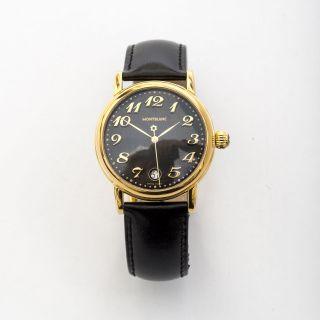 Montblanc Star Meisterstück Uhr Schwarz Vergoldet Manschettenknöpfe Bild