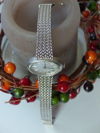 Damenuhr Echt Silber 835 Armbanduhr Sehr Wertig Verarbeitet Roamer Bild