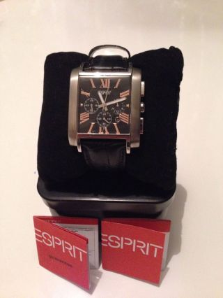 Esprit Es101001001 Royal Flush Black Uhr Herrenuhr Armbanduhr Markenuhr Bild