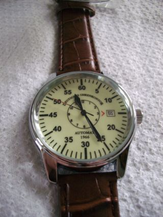 Deutsches Uhrenkontor Automat Duk - 1966 Flieger Automatik Uhr - Manufaktur,  Box Bild
