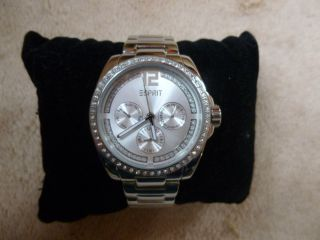 Esprit Uhr/armbanduhr/chronograph Silber Mit Swarowski - Steinen Bild
