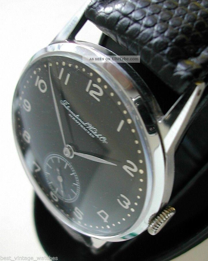 Iwc Schaffhausen Bildschöne,  Art Deco Perfektion V 1941 Zeitlos Schön Kal 83 Armbanduhren Bild
