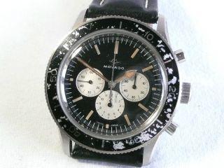 Rar: Movado Sub - Sea Taucherchronograph,  Stahl,  Kaliber M 95,  1950er Jahre Bild