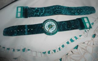 Pop Swatch Green Queen - Topzustand Wie Angebot Bild
