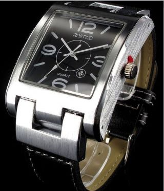 Animoo Herren Armbanduhr Xxl Lederarmband Datumsanzeige Leder Armband Uhr 0331 Bild