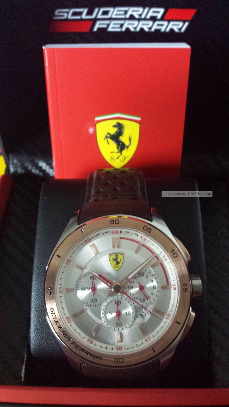Ferrari Uhr Chrono Gran Premio Aus Sammlungsauflösung Uvp 337,  - Armbanduhren Bild