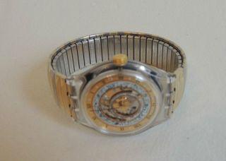 Swatch Automatic Serti Misterieux Sternzeichen Herren Uhr Automatik Watch Retro Bild