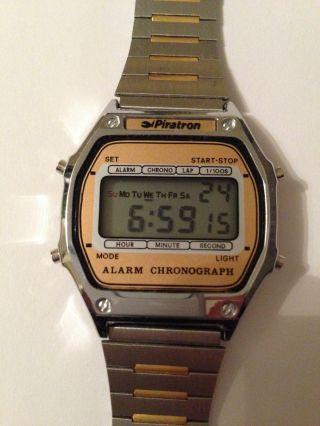 Piratron P - 2264,  Vintage Lcd Uhr Neuwertig 80´er Inkl.  Originalanleitung Bild