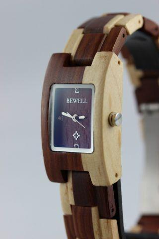 Bewell Holzuhr,  Damenuhr,  Ahorn - Sandelholz,  A - Ware,  Armbanduhr,  Top Geschenk Bild