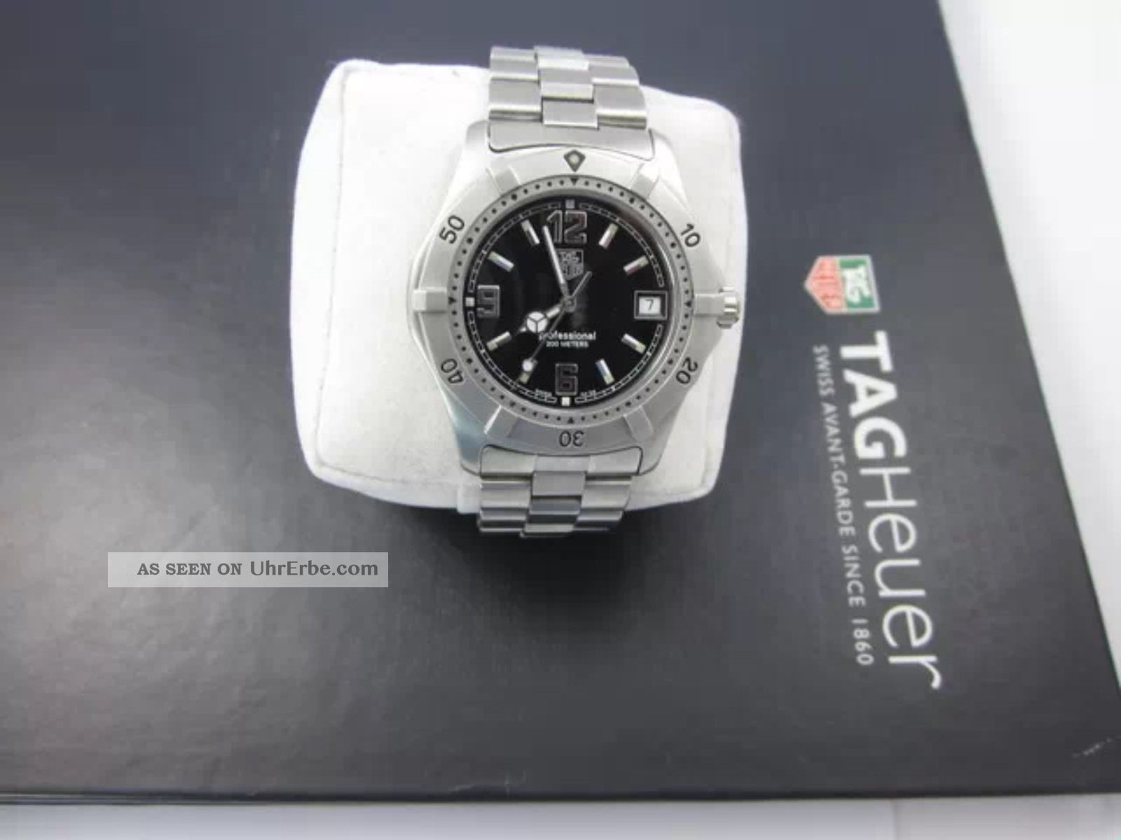 Tag Heuer 2000 Hau Mit Schwarzem Zifferblatt Wk 1110 Armbanduhren Bild