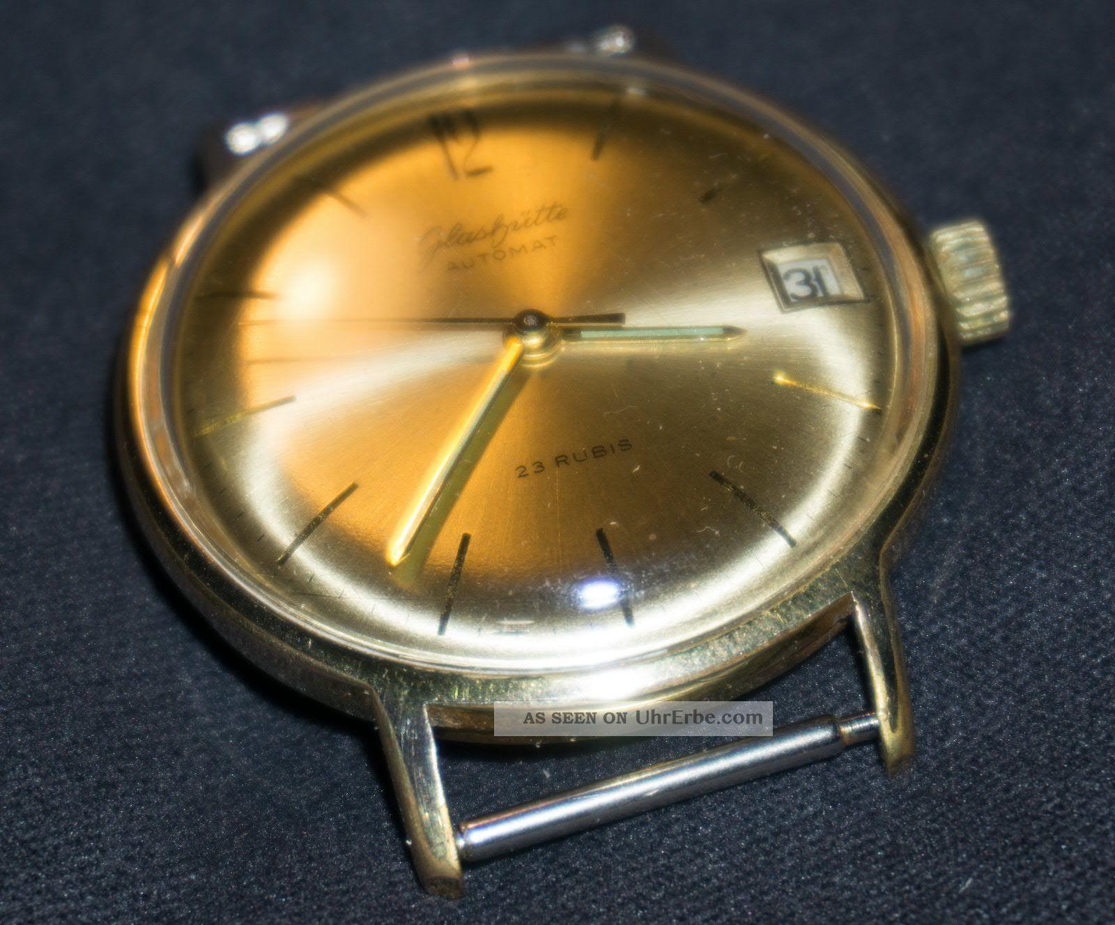 Glashütte Automat,  Vergoldet,  Aber In Sehr Guten Armbanduhren Bild