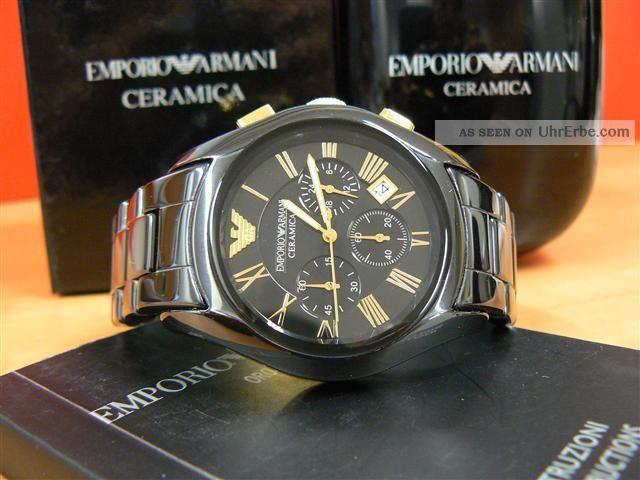 Emporio Armani Ar1413 Ceramica & Ovp. Armbanduhren Bild