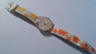 Swatch Blumendesign,  Armbanduhr,  Voll Funktionsfähig,  Batterie Bild