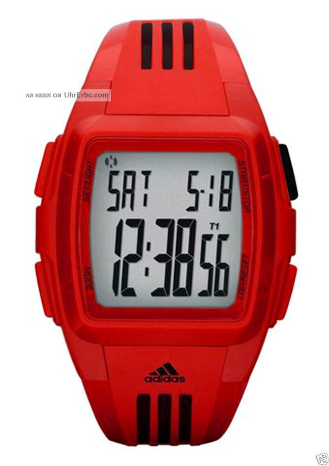 Sportliche Adidas Uhr,  Digital Runner - Chronograph Rot Damen,  Kinder, Armbanduhren Bild