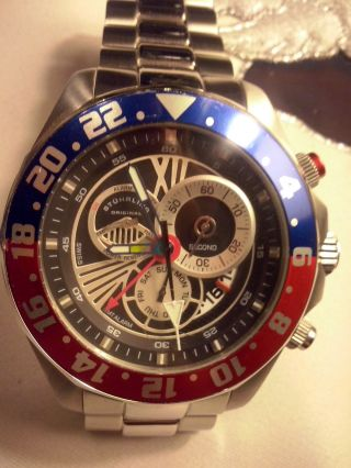 Stuhrling 287 331113 Nautico Schweizer Chrono Gmt Alarm Uhr Bild
