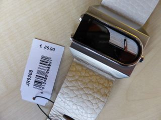 Fossil Jr9308 Armbanduhr Für Herren - Edelstahl - Lederarmband Weiss Bild