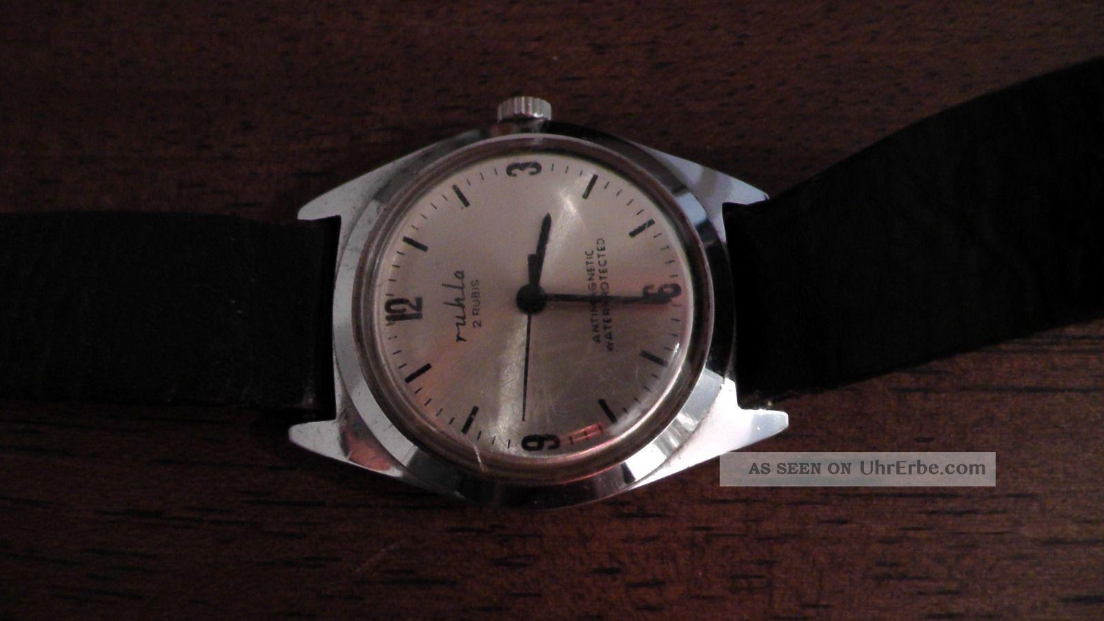 Ruhla Mechanische Armbanduhr 2 Rubis Armbanduhren Bild