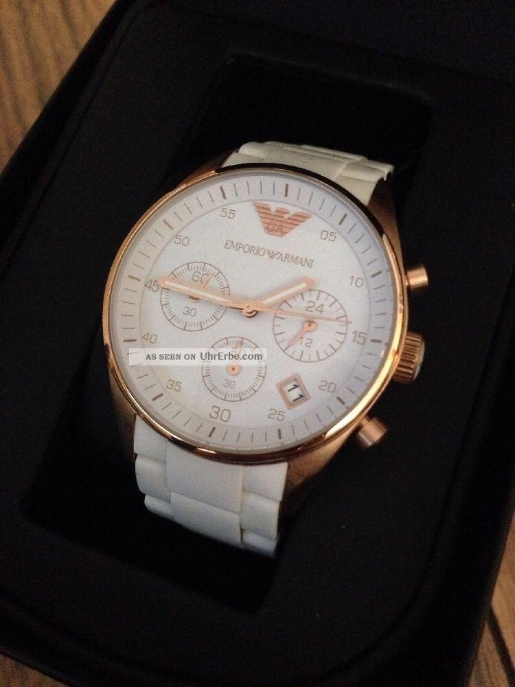 Armani Uhr Weiss Ovp Armbanduhren Bild