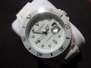 Madison Armbanduhr York Candy Time Weiß Ungetragen Bild