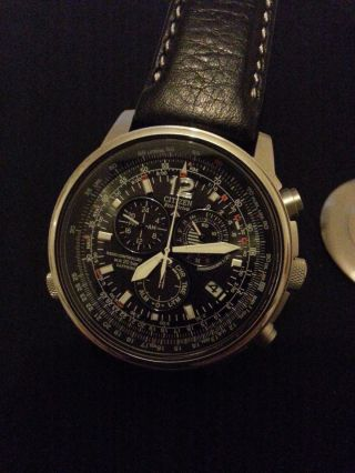 Citizen As4020 - 28e Promaster Sky Eco - Drive Funk Chrono Saphir Stahl Bild