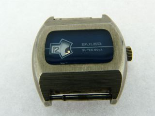 Buler Scheibenuhr Mechanische Digitaluhr Werk Eb 461 Swiss Made Bild